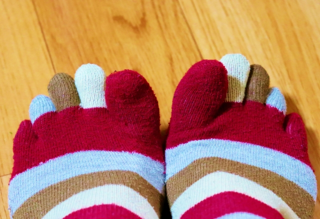 オシャレな五本指靴下