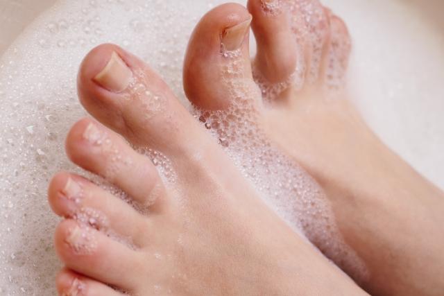 足はちゃんと洗いましょう