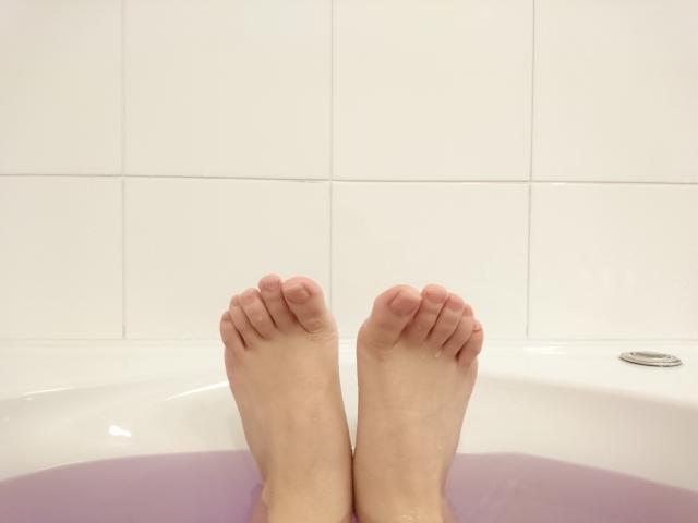 足をキレイに洗いましょう!