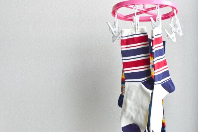 洗濯した靴下