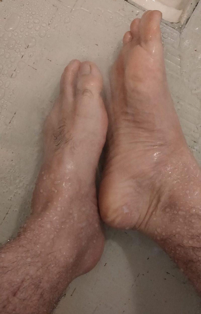 アニセ薬用石鹸を洗い流す