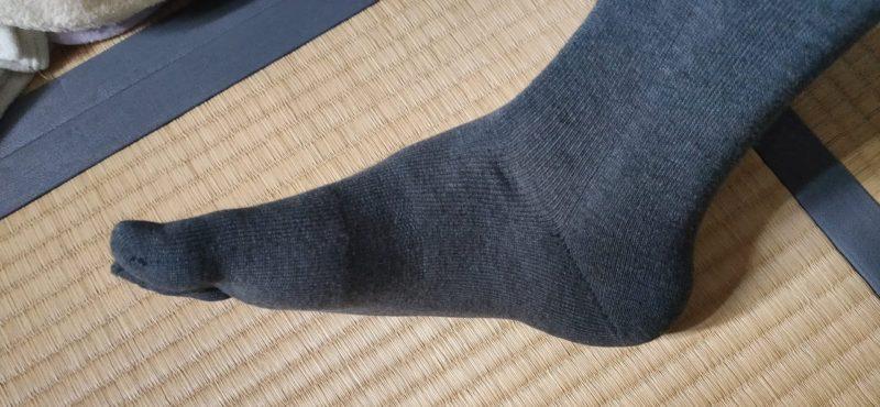 潔を極める 靴下 透け具合